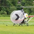 Helikopterstart in Bad Kissingen